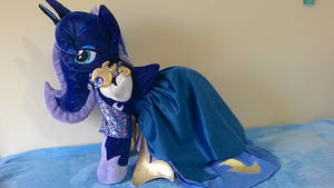 MLP plush- Princess Luna in dress- commission by Masha05