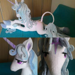 Last Unicorn plush lifesize. by Masha05