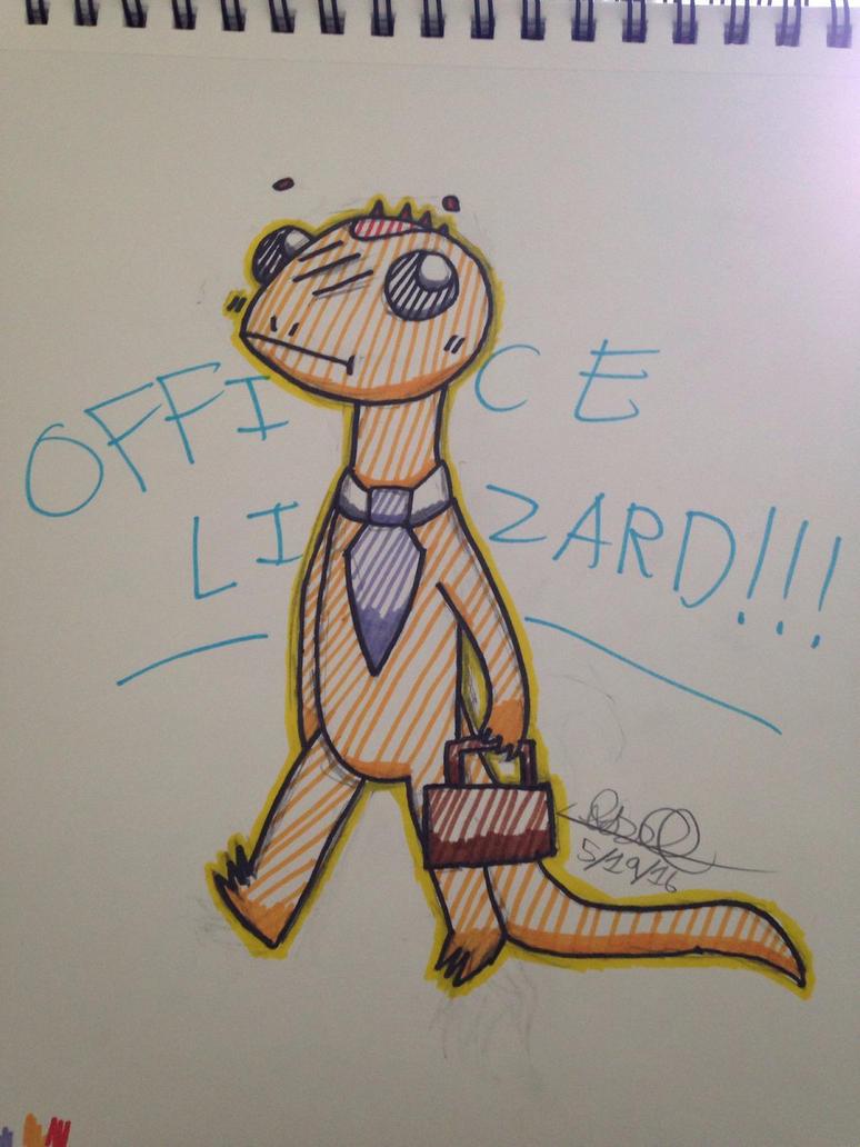 Office Lizard!!! by 27carrots