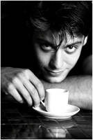 Man and Cup. by LithiumFX