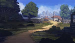 Landscape sketch one by RavenseyeTravisLacey