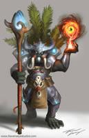 Hulk ogre warlock shaman by RavenseyeTravisLacey