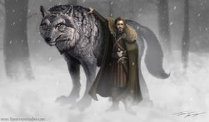 Robb Stark and Grey Wind Game of thrones
