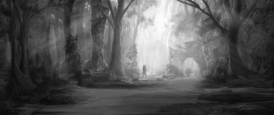 Passage threw the forest by RavenseyeTravisLacey