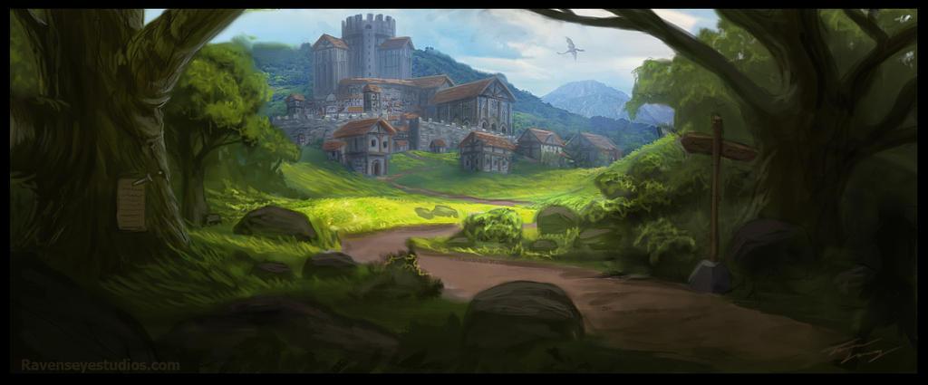Castle In The Distance by RavenseyeTravisLacey