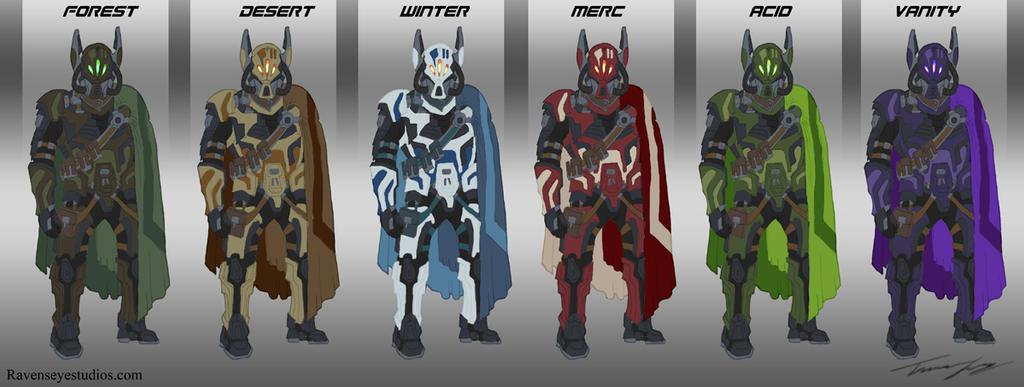 Smuggler Armor Set by RavenseyeTravisLacey