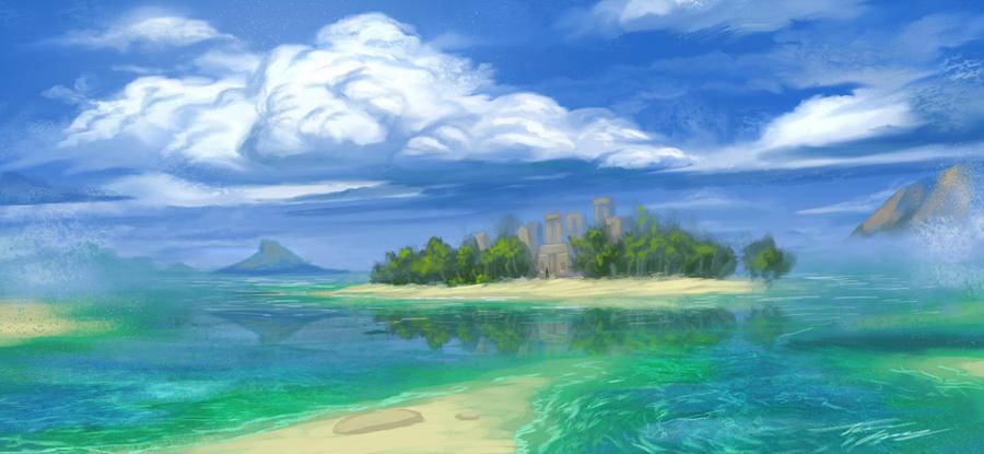 Tropical Sketch by RavenseyeTravisLacey on DeviantArt