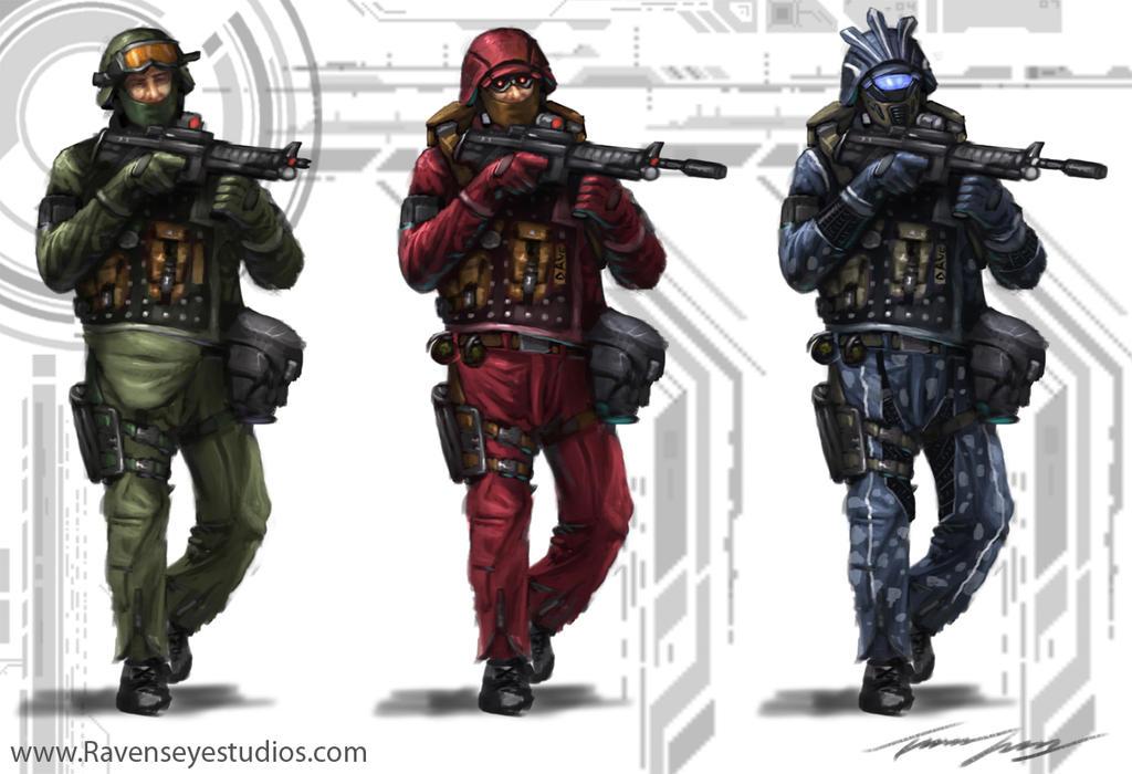 Swat Guys by RavenseyeTravisLacey