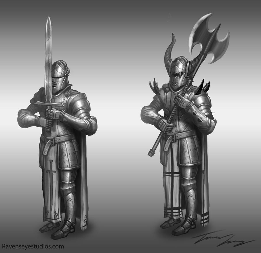 Knights by RavenseyeTravisLacey