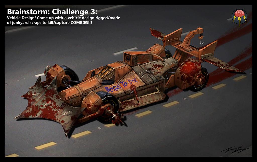 Brainstorm: Zombie Vehicle: Indy Car by RavenseyeTravisLacey