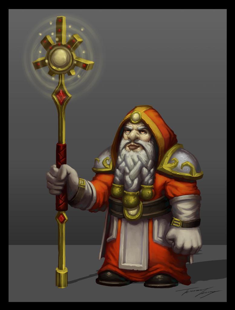 Dwarf sun cleric by RavenseyeTravisLacey