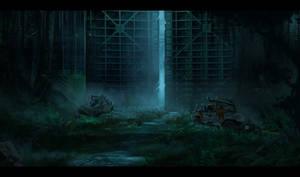 Jurassic park: The gate by RavenseyeTravisLacey