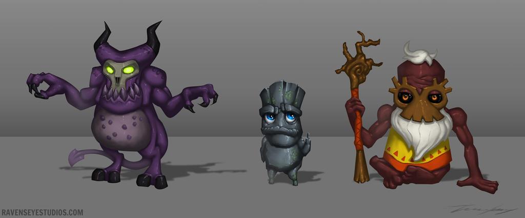 Creature weirdo's by RavenseyeTravisLacey