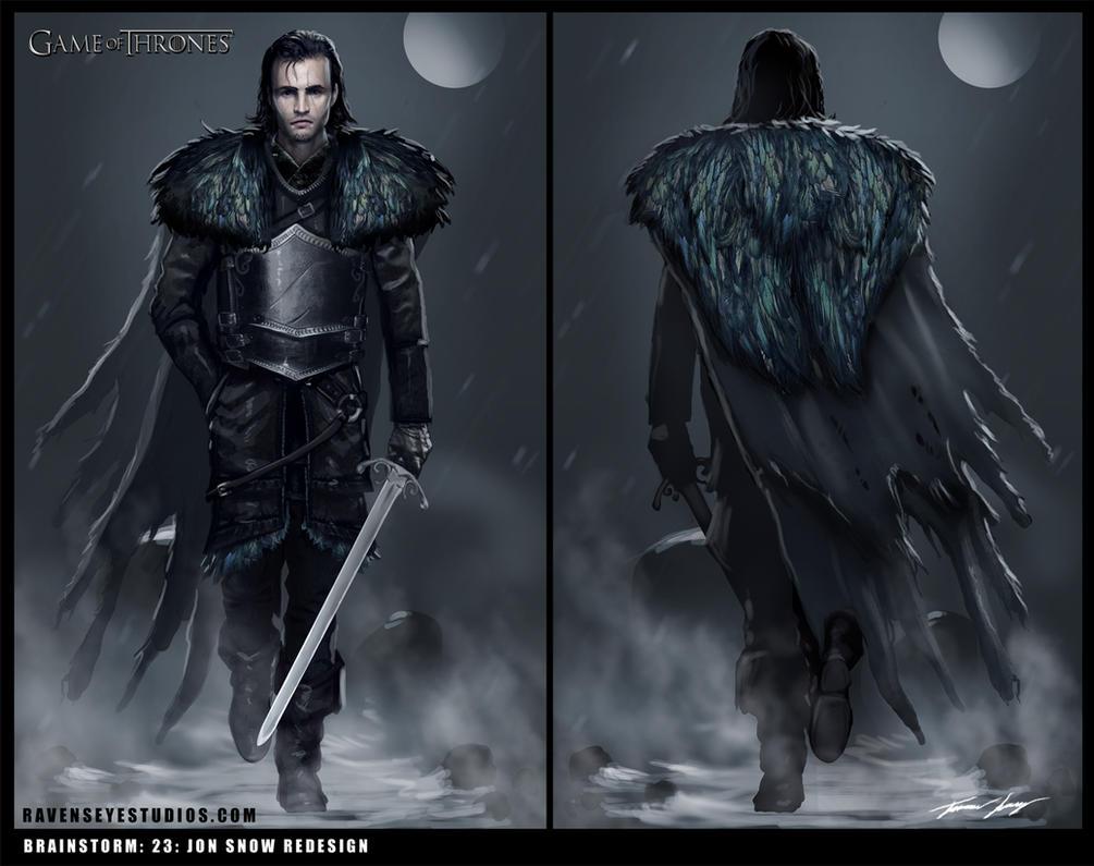 Jon Snow : Brainstorm : Redesign by RavenseyeTravisLacey