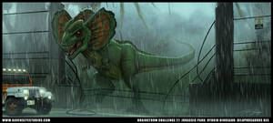 Dilophosaurus Rex by RavenseyeTravisLacey