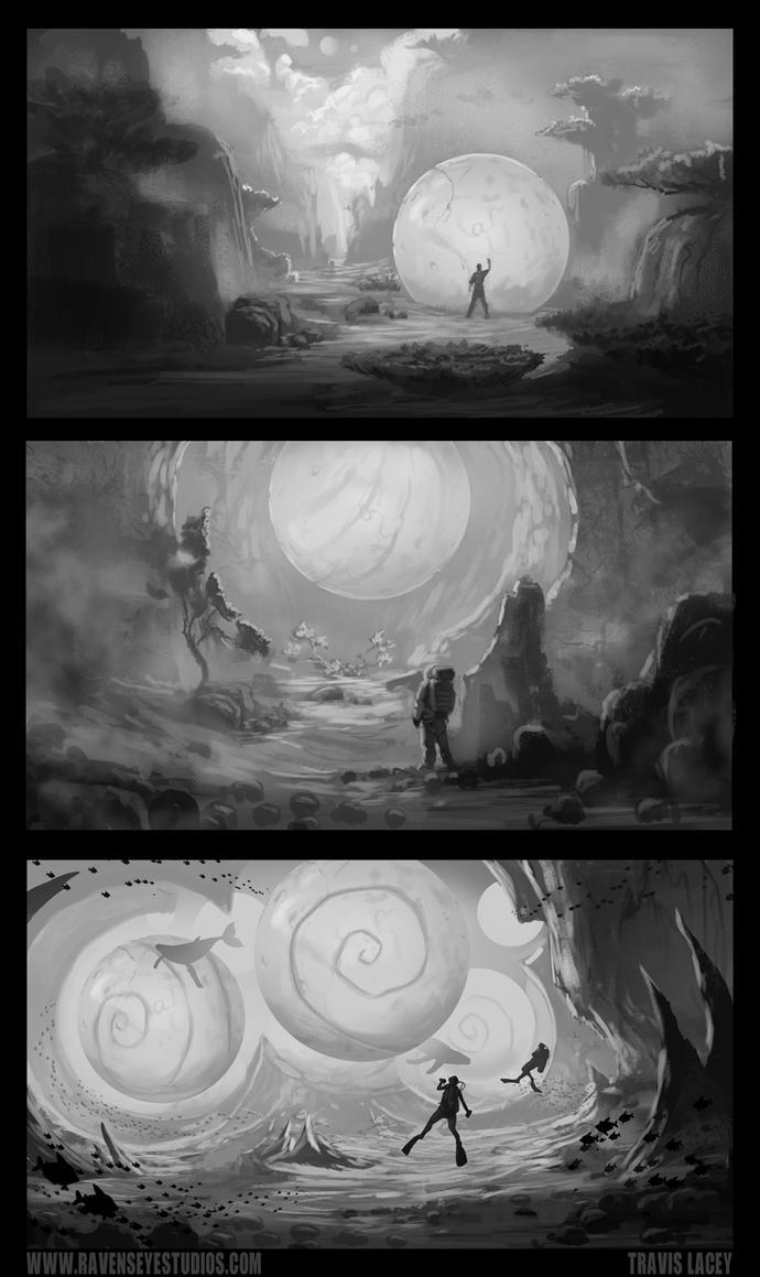 Orb rough sketches by RavenseyeTravisLacey