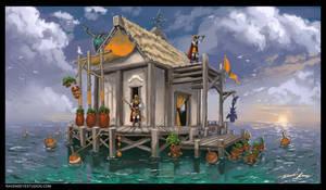 Ocean outpost by RavenseyeTravisLacey
