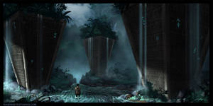 waterfall monoliths by RavenseyeTravisLacey