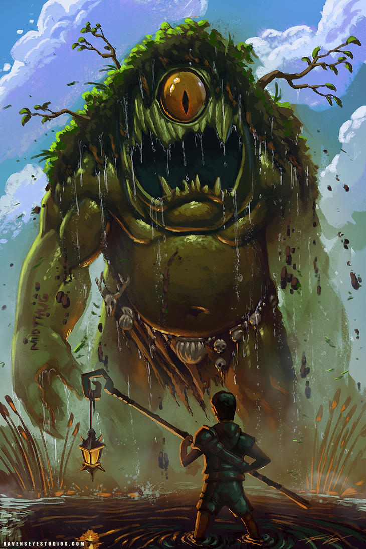 The Swamp Creature And The Boy by RavenseyeTravisLacey