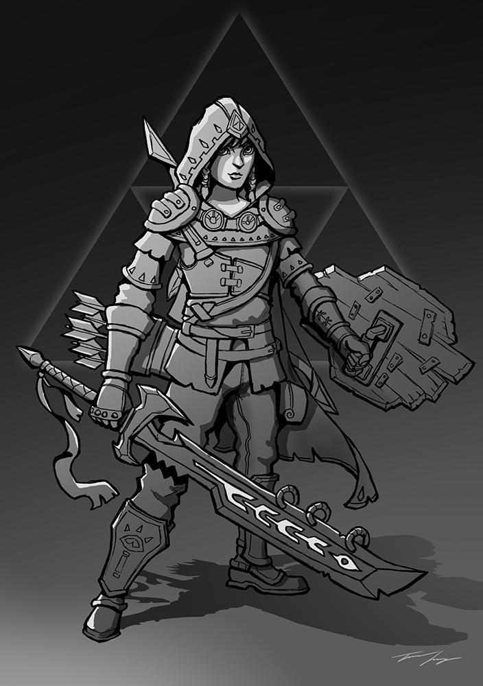 Zelda - BOTW - Link sketch by RavenseyeTravisLacey