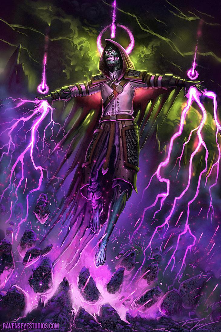 Twitch Streamed - Necromancer Warlock by RavenseyeTravisLacey