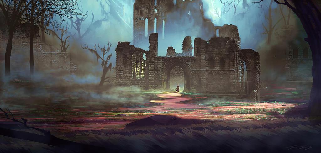 Maysketchaday - 2018 - 18 : Ruins by RavenseyeTravisLacey