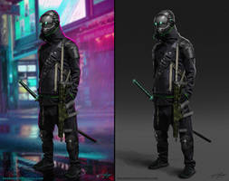 Cyberpunk Character concept by RavenseyeTravisLacey