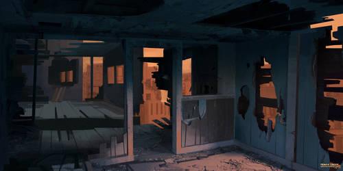 #Maysketchaday 2019 - 05 - Dilapidated house