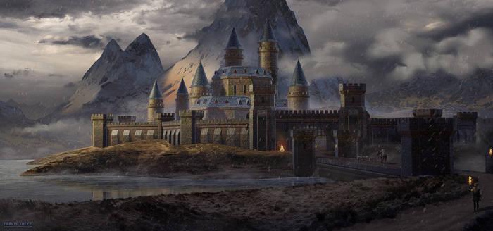 #Maysketchaday 2019 - 08 - Highlands Castle by RavenseyeTravisLacey