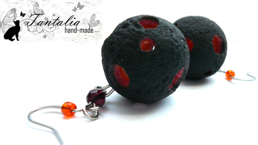 "Earrings ""Meteorite"" by Tantalia"