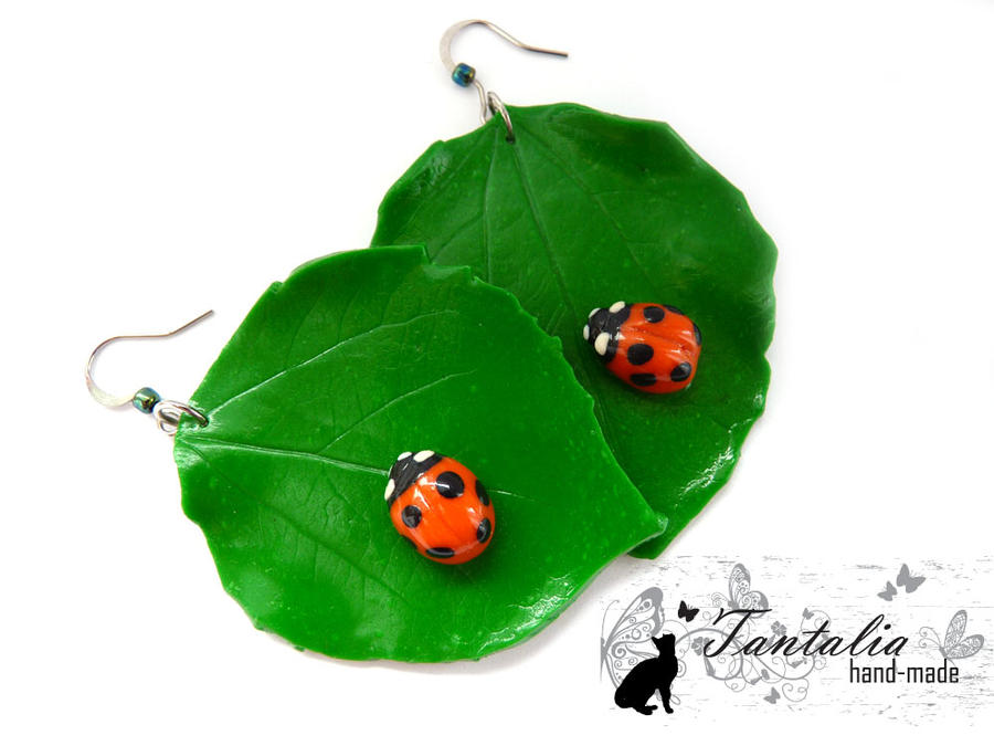 "Earrings ""Ladybird"" by Tantalia"