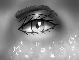 semi-realistic eye