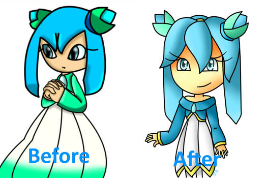 before and after crystal's Design