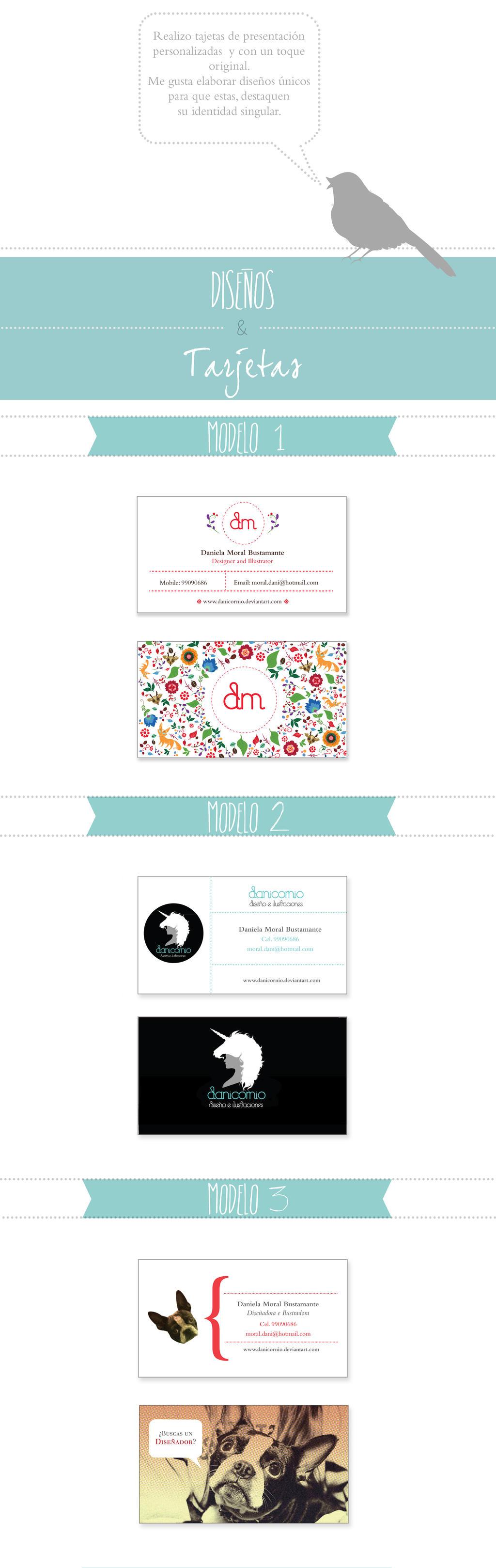 tarjetas de presentacion by Danicornio