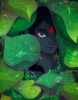 Entre las hojas by Danicornio
