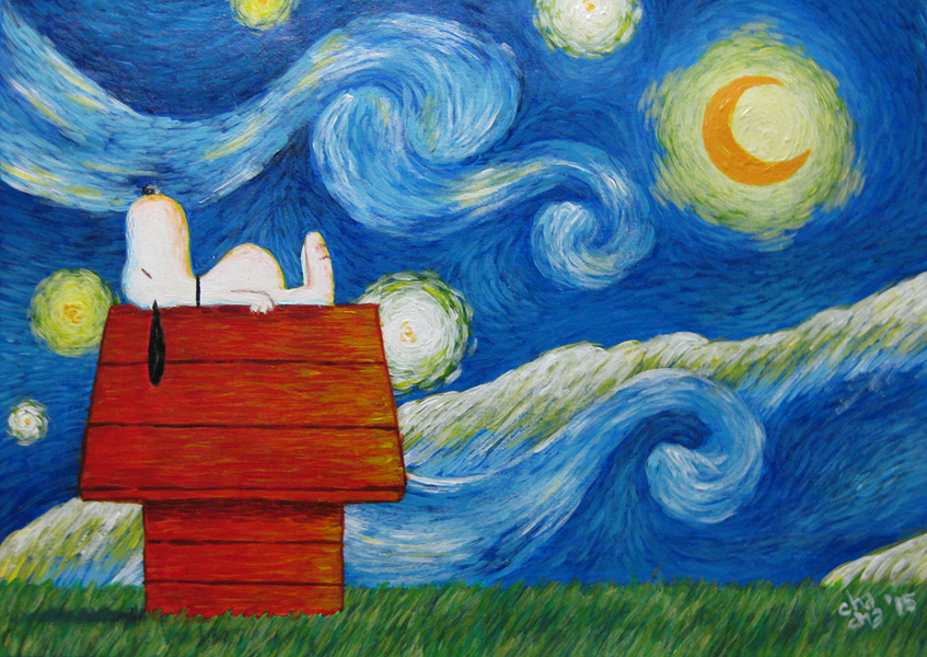 Snoopy Starry Night by Chachalux