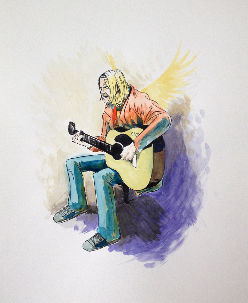Kurt Watercolor by BryanMaxwell
