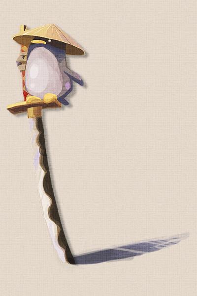 samurai penguin by nargyle