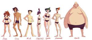 CF: Body type lineup