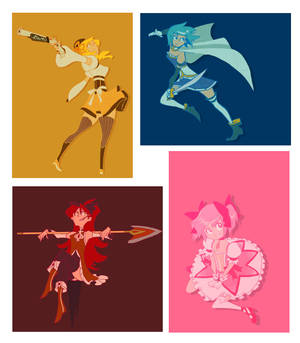 Madoka Magica girls