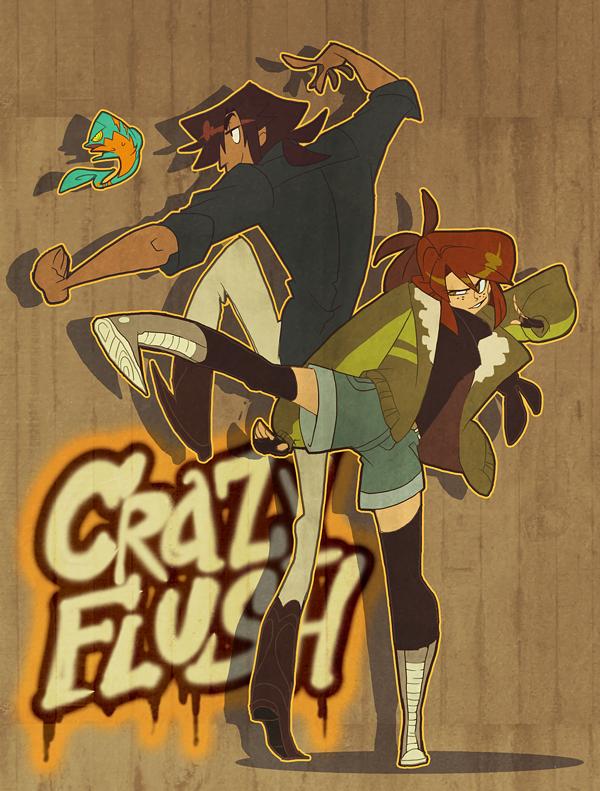 Crazy Flush: Kickin' It by nargyle