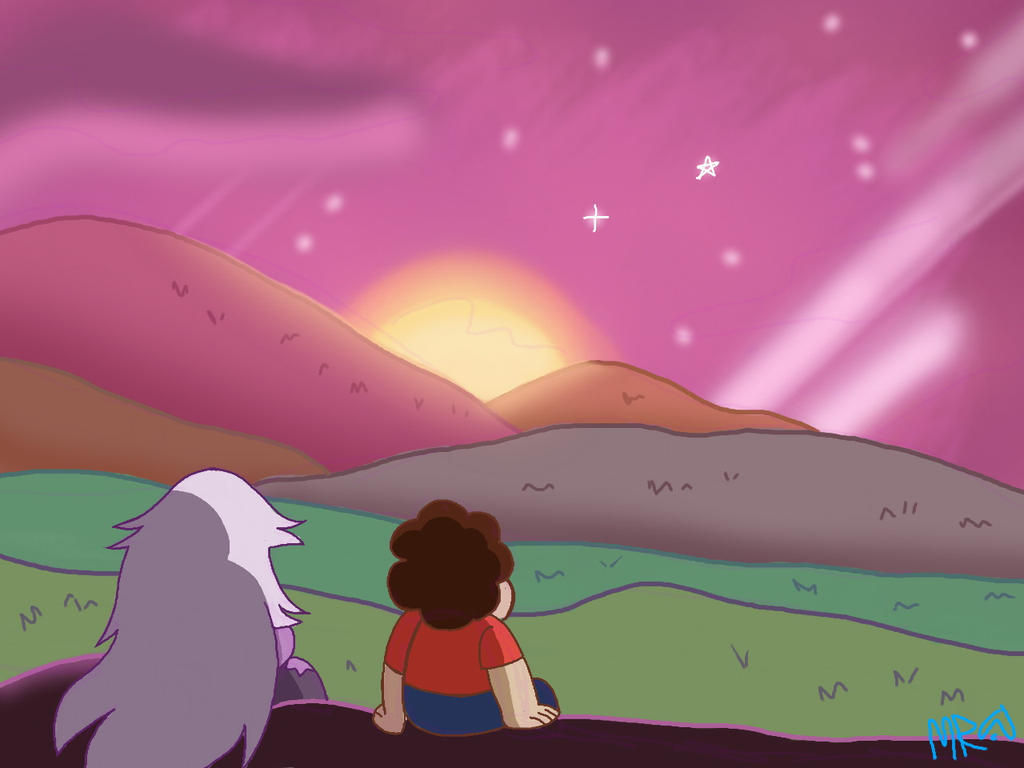 I love the way they make scenery on steven universe. I tried to do something similar. Watch the speed paint!