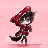 RWBY - Chibi Ruby + Shark-hoodie
