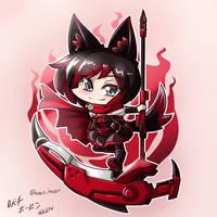 RWBY - Chibi Ruby ~ Cresent Rose by HOSEN-HOSEN-HOCEN