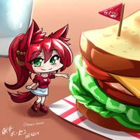RWBY - Chibi Pyrrha~ Sandwich~ by HOSEN-HOSEN-HOCEN