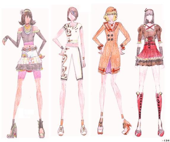 Fashion Sketches 5 8 By Kikiochii On Deviantart