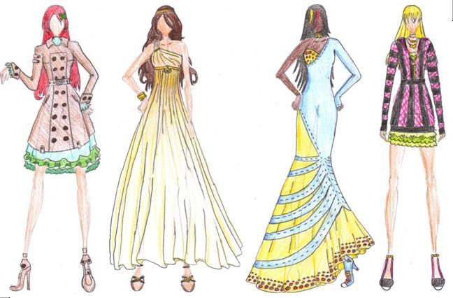 Fashion Sketches 17 20 By Kikiochii On Deviantart