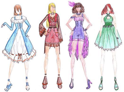 fashion sketches 2124 by kikiochii on deviantart