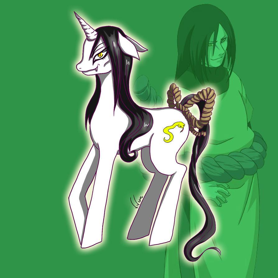 Orochimaru female pony by Akainka