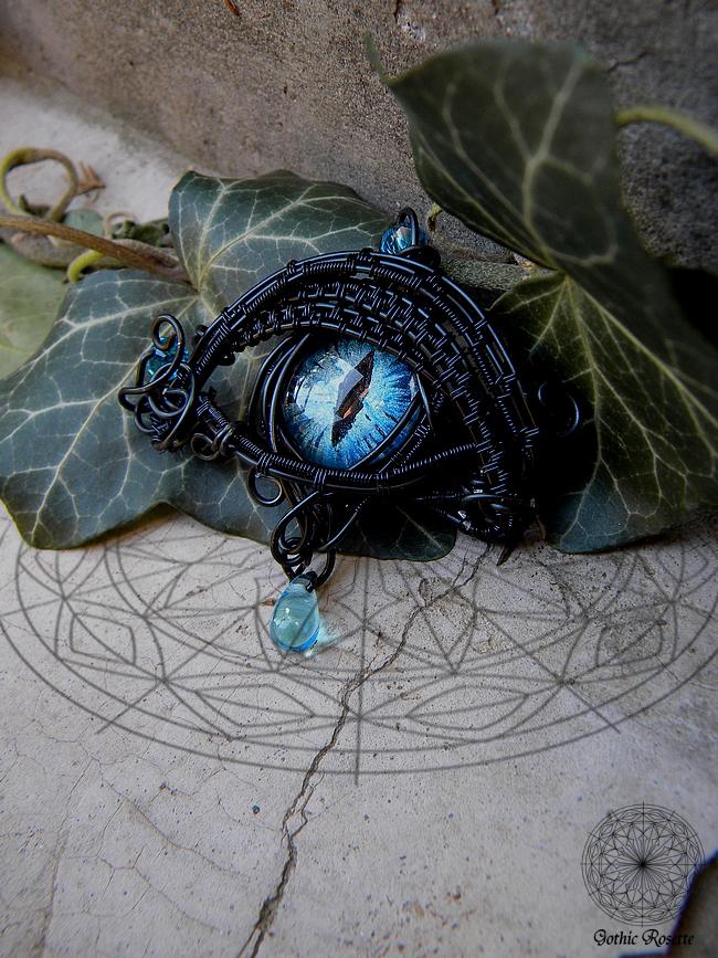 Giant blue eye pendant by gothicrosettejewelry on deviantart giant blue eye pendant by gothicrosettejewelry aloadofball Images